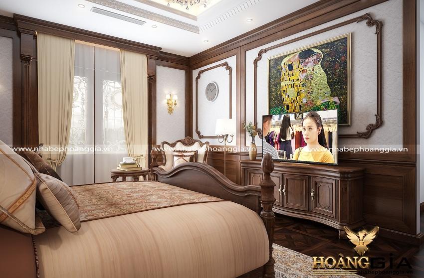 thiết kế nội thất phòng ngủ tân cổ điển 4