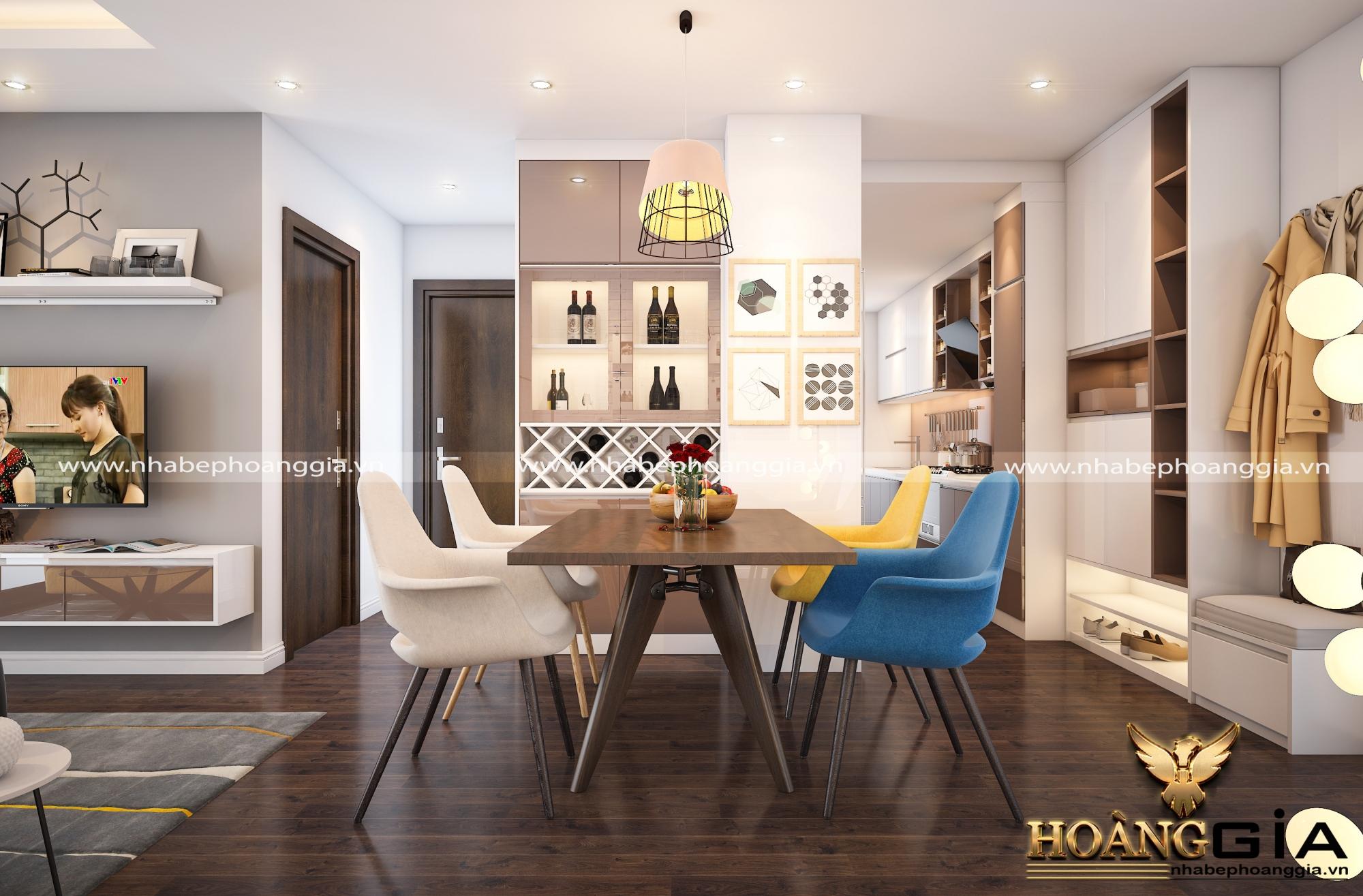 thiết kế nội thất khách bếp hiện đại 3