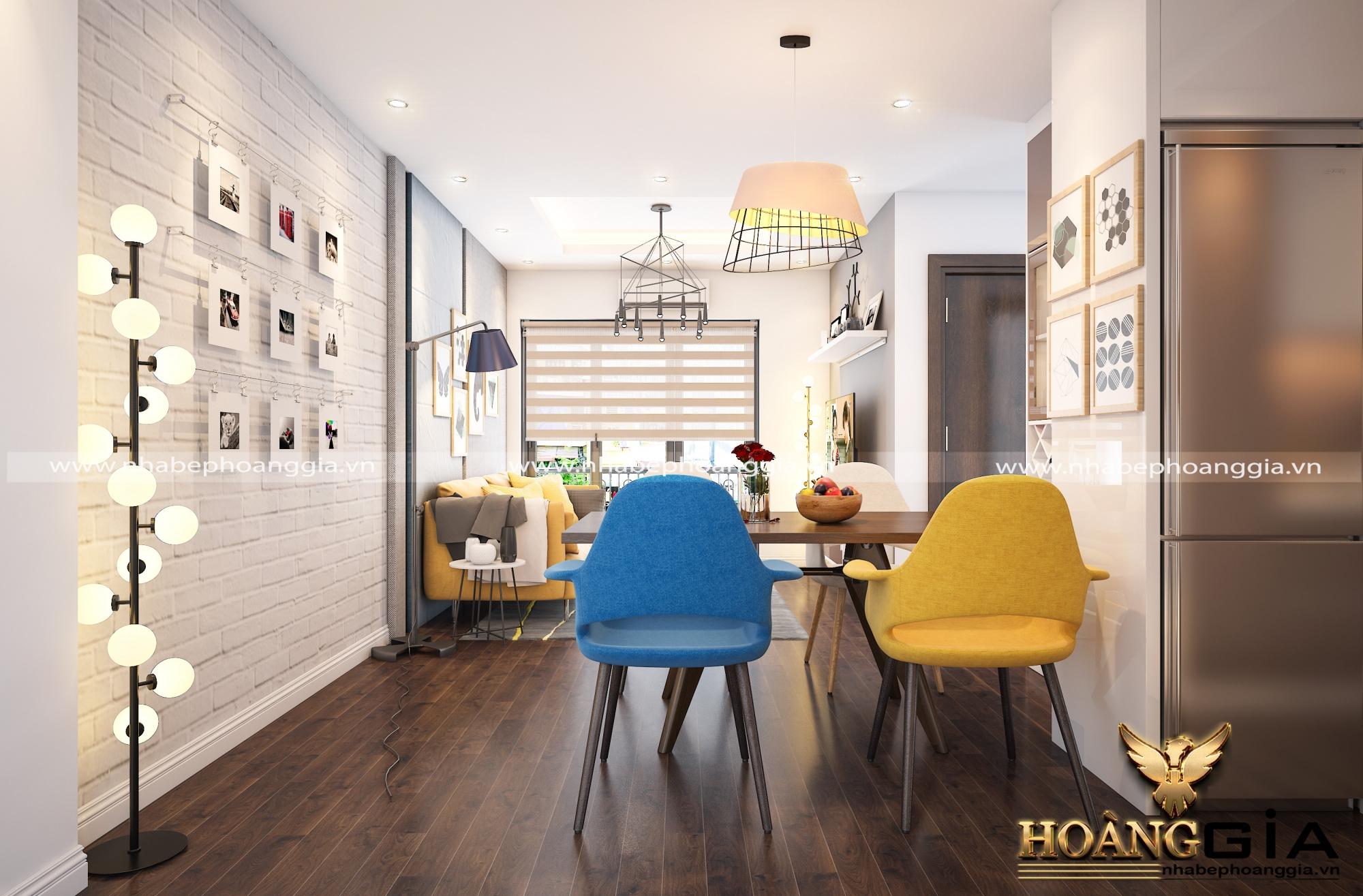 thiết kế nội thất khách bếp hiện đại 6