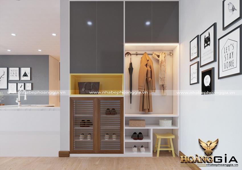 Thiết kế nội thất phòng khách bếp hiện đại 2