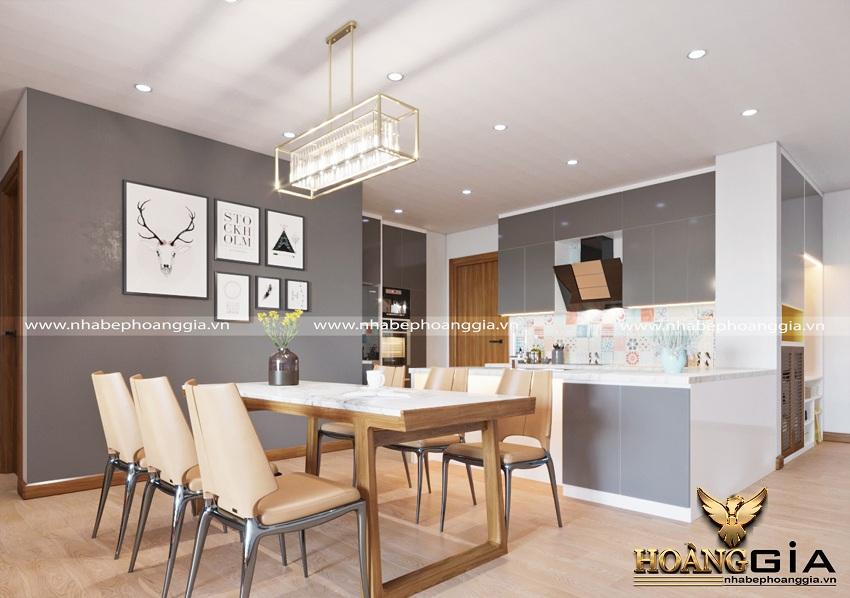 Thiết kế nội thất phòng khách bếp hiện đại 4