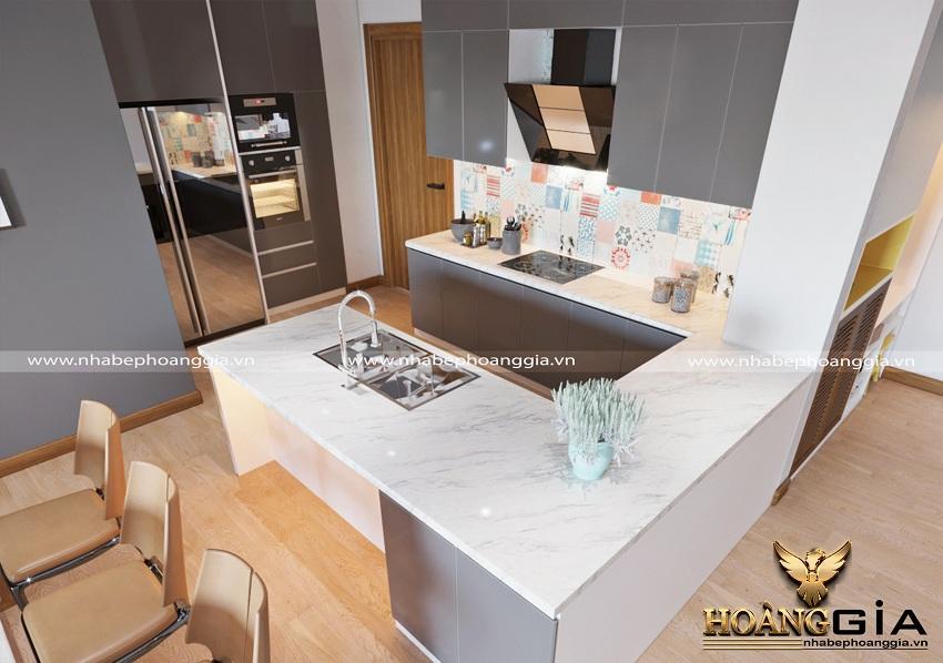 Thiết kế nội thất phòng khách bếp hiện đại 5