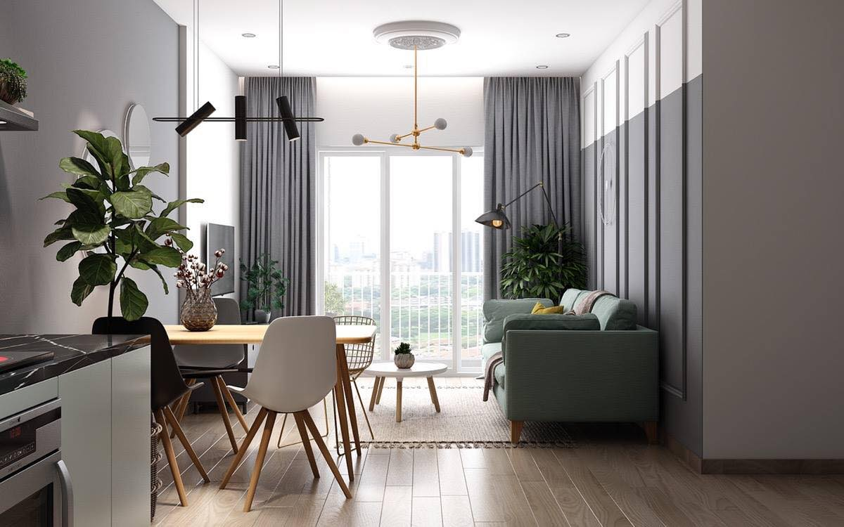 phòng khách chung cư hiện đại