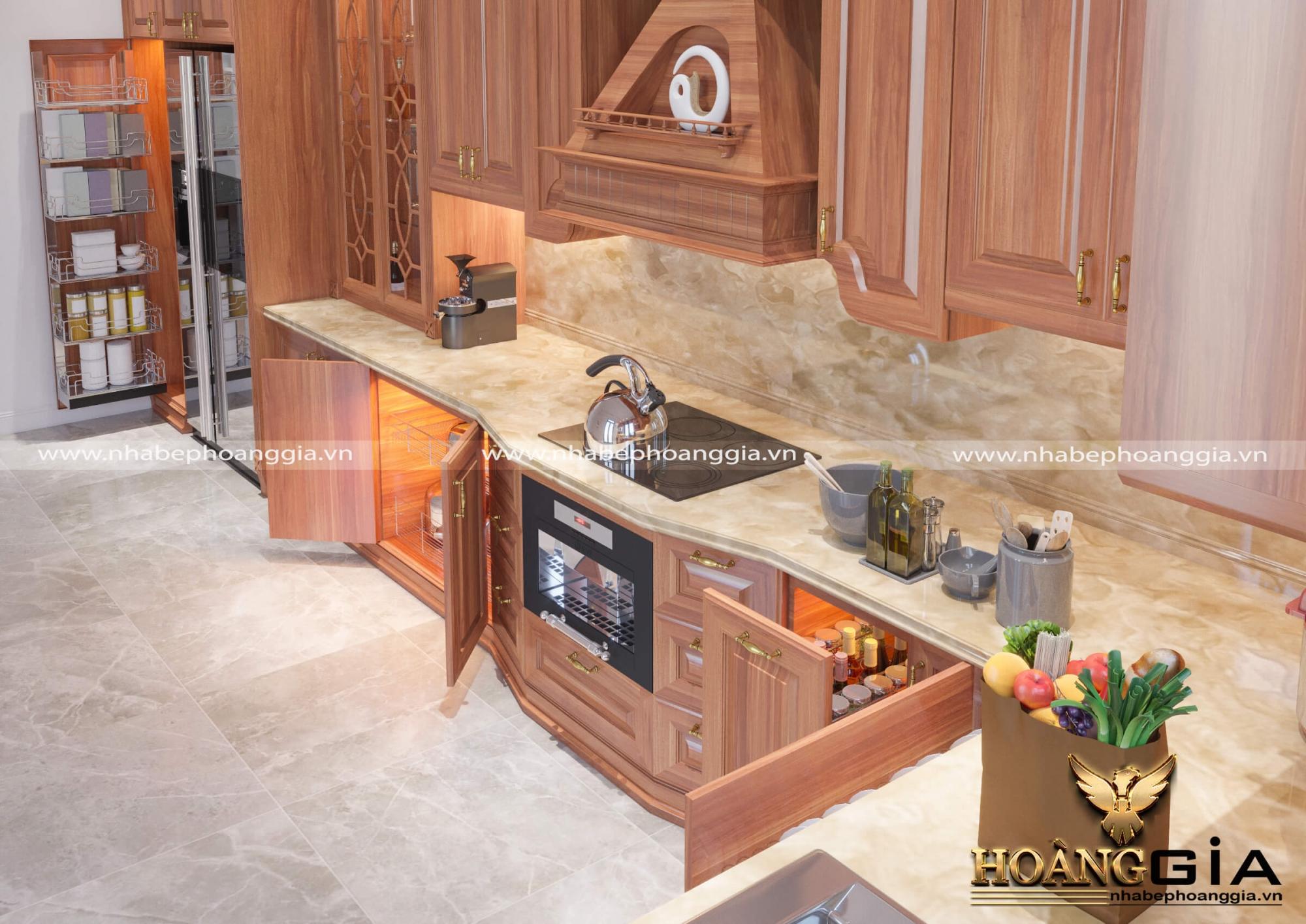dự án thiết kế tủ bếp nhà chú Ngân