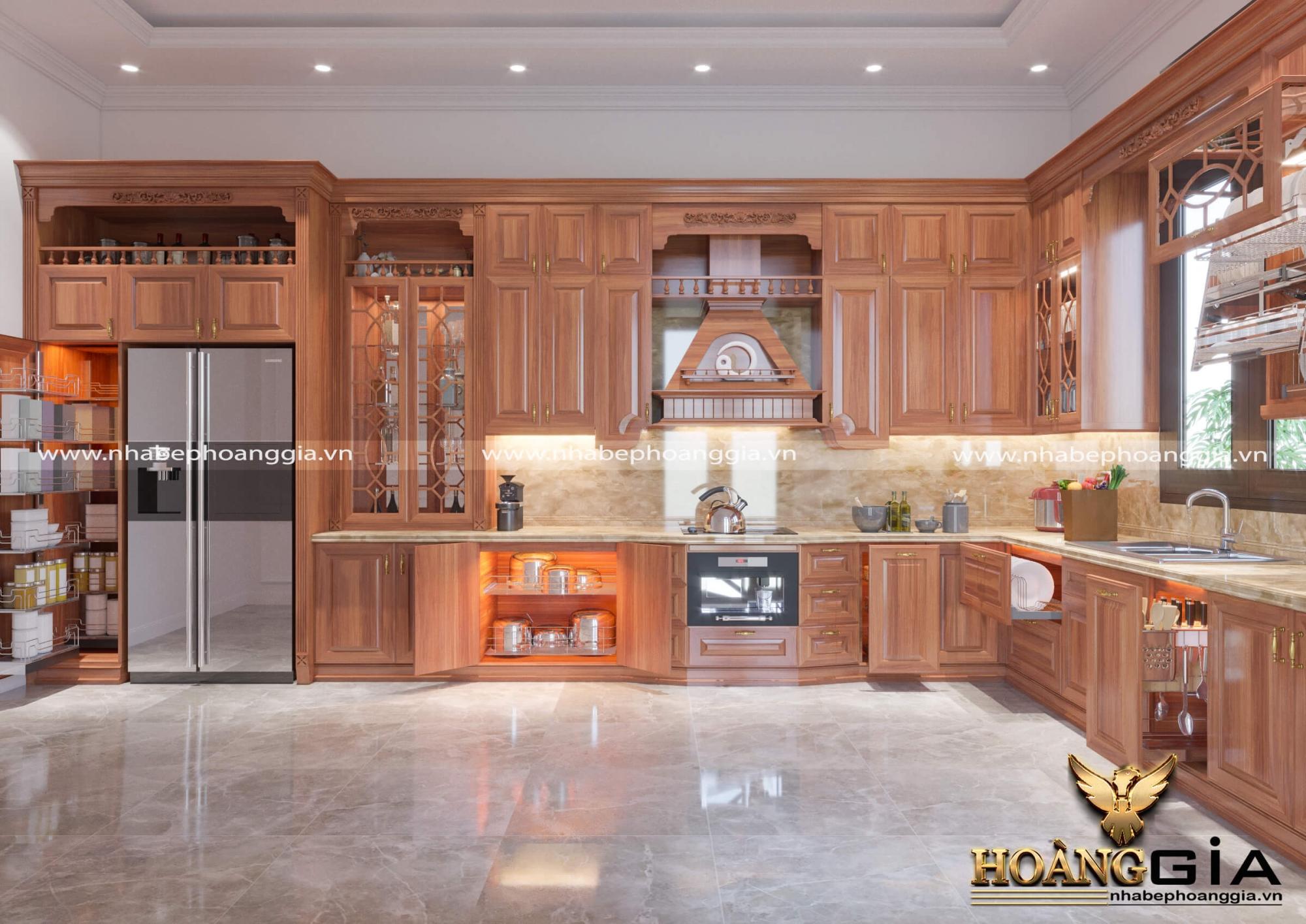tủ bếp nhà chú Ngân
