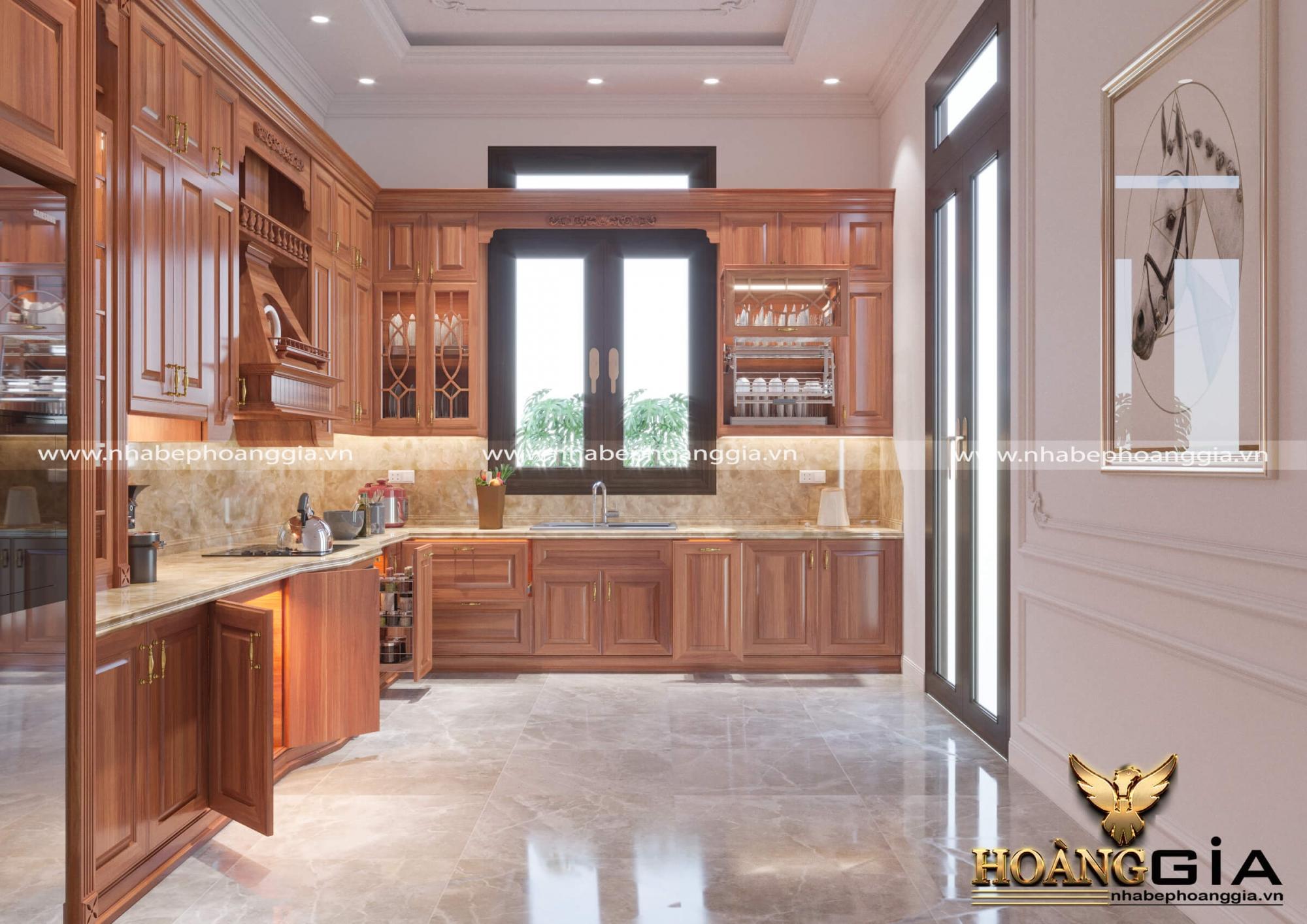 dự án thiết kế tủ bếp n hà chú Ngân Tây Nguyên