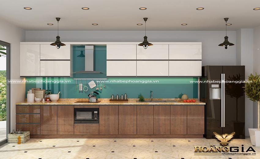 căn bếp hiện đại với tủ bếp laminate