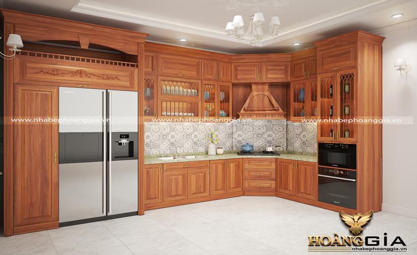 Mách bạn địa chỉ đóng tủ bếp gỗ gõ đỏ chất lượng tại Hà Nội