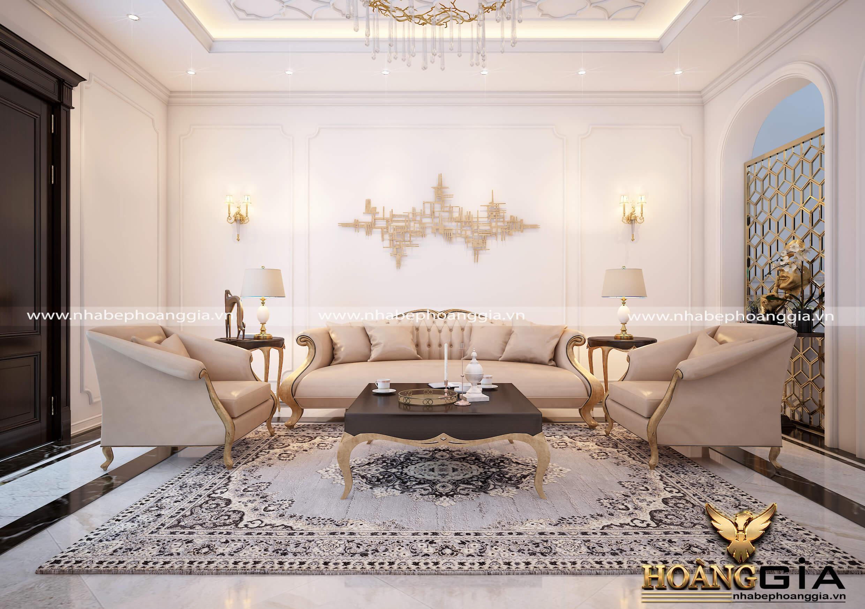 mẫu phòng khách tân cổ điển cho chung cư