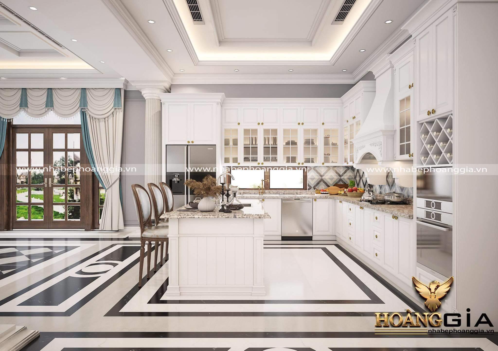 thiết kế tủ bếp tinh tế cho không gian sang trọng